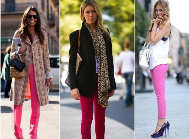 Nueva era informativa apuesta por los pantalones de colores for Colores para combinar con rosa