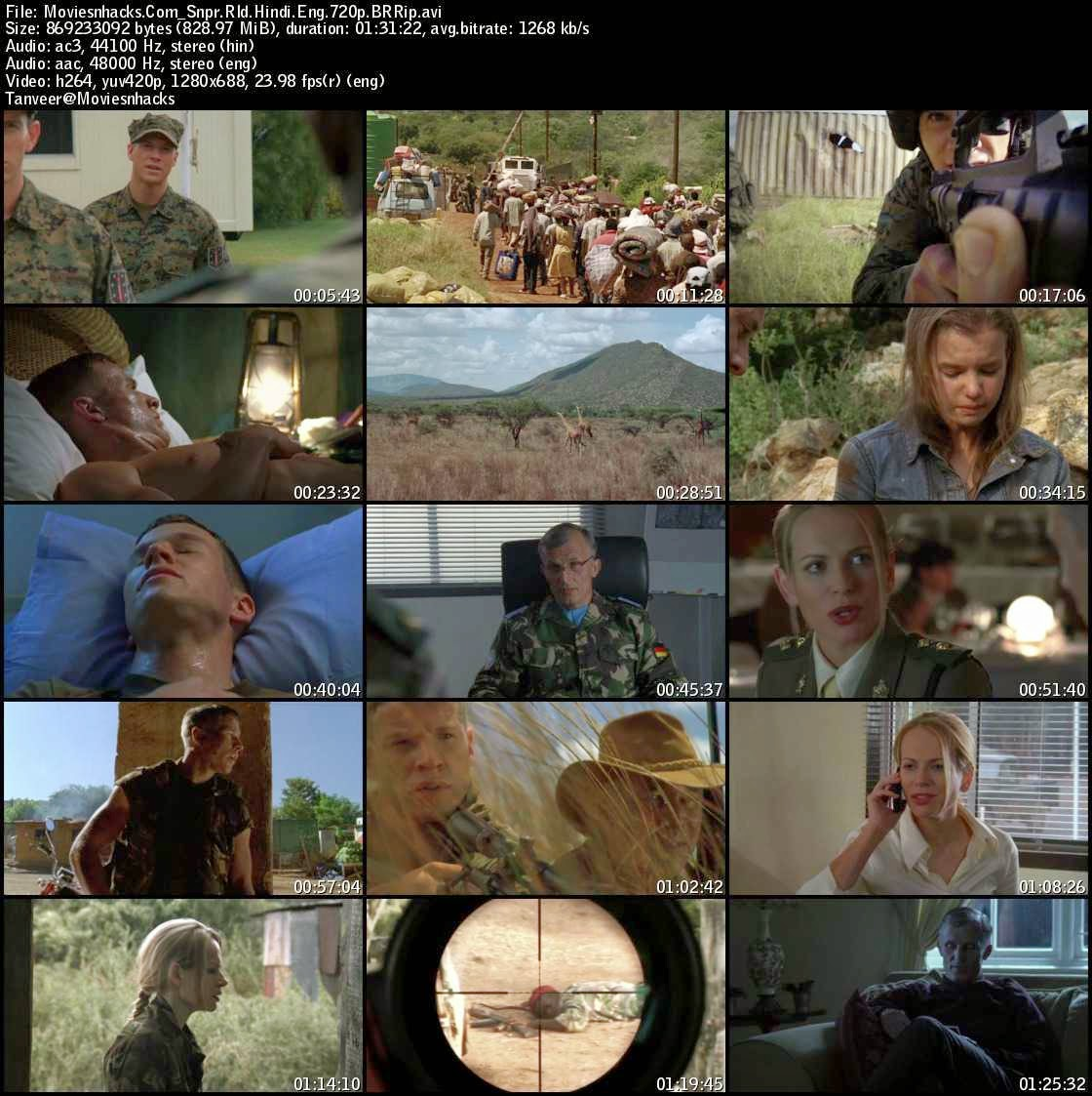 Sniper: Reloaded (2011) 720p BRRIp x264 Dual Audio