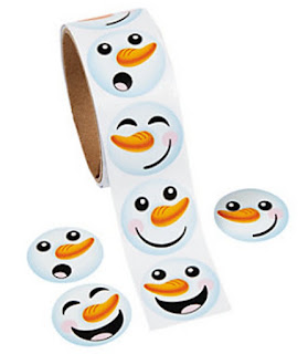 Snowman stickers for Girl Scout crafts