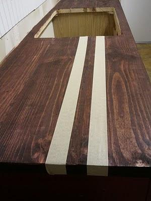 lighten wood stain