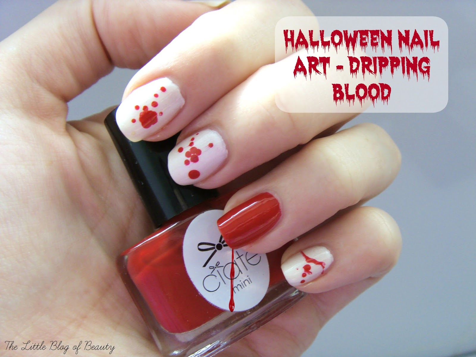 Halloween nail art dripping blood the little blog of beauty halloween nail art dripping blood prinsesfo Choice Image