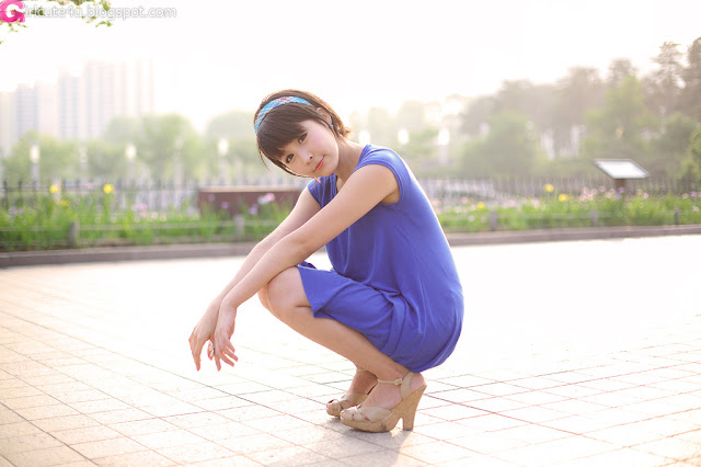 2 kim Ji Min in Blue-very cute asian girl-girlcute4u.blogspot.com