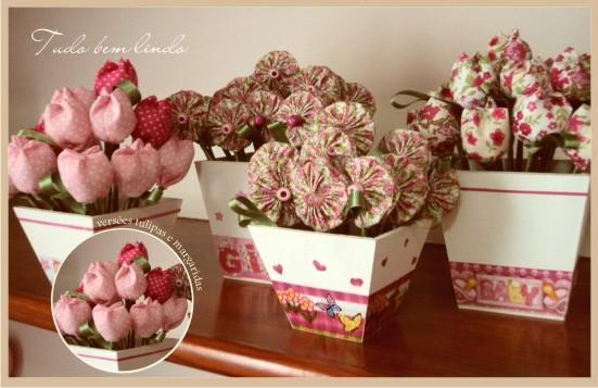 Linha & Agulha flores de tecido, flor de fuxico, orinuno  - Imagens De Flores De Tecidos