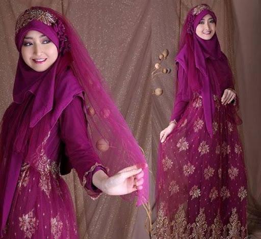 model gaun pengantin muslimah terbaru dan syar'i