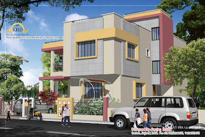 Duplex House Plan and Elevation - 215 Sq M (2310 Sq. Ft.) - January 2012