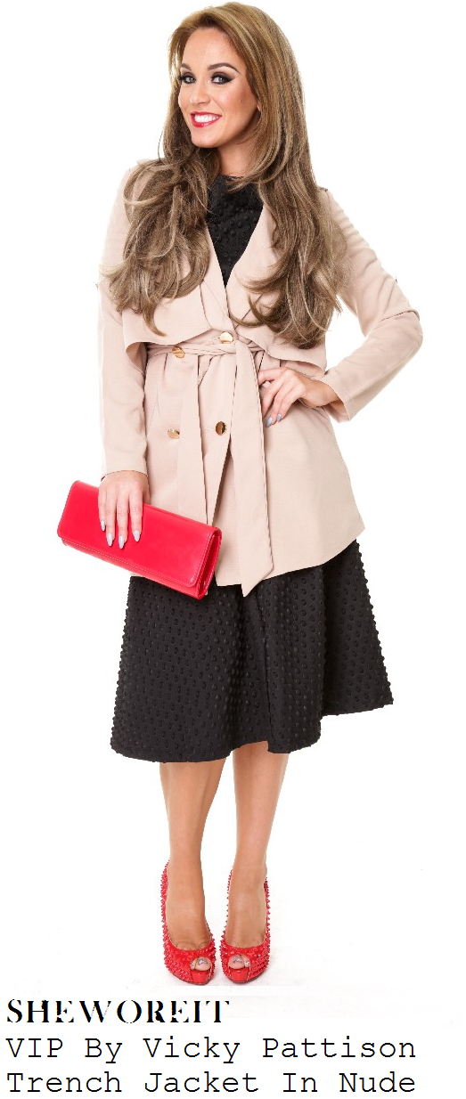 vicky-pattison-nude-beige-tailored-belted-mac-trench-coat-jacket