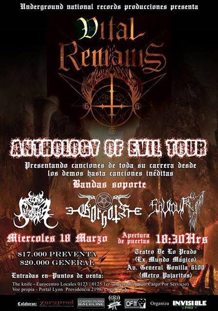 Vital Remains en Chile