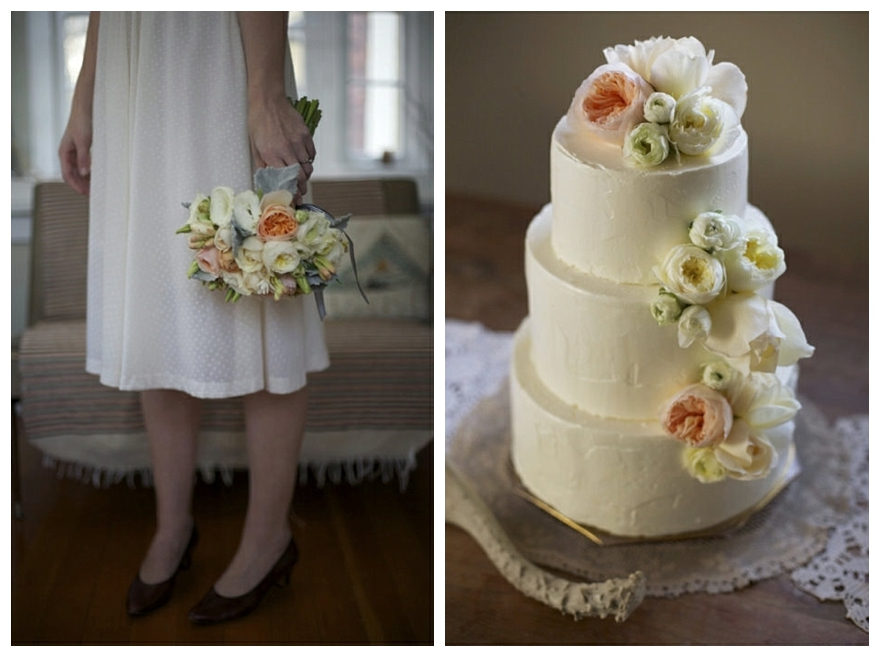 Cake Decorations For Wedding Cakes Uk : Pale & Romantic, Peach & Pink Wedding Inspiration