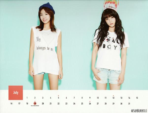 Apink calendar 2015 scans Namjoo, Chorong