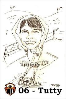 Desenhos Preto e Branco caricaturas de time Tabajara   Colorir