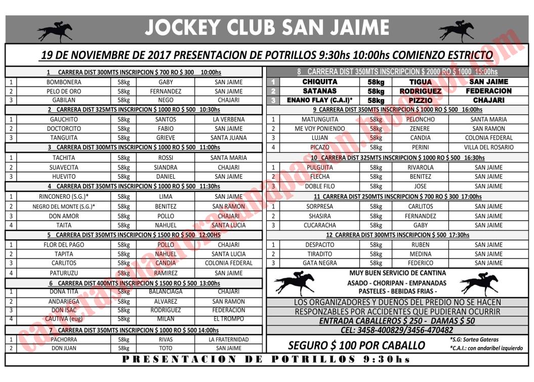 SAN JAIME - PROGRAMA
