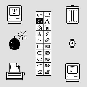Icônes système Macintosh par Susan Kare (1983-1984)