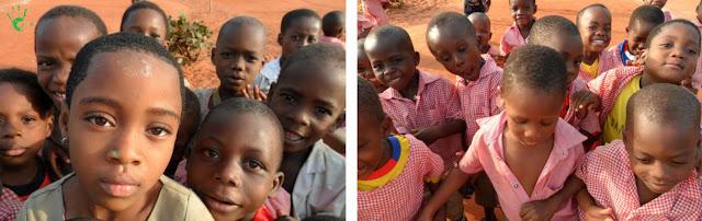I bambini africani della scuola di Noepé