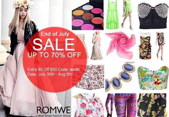 Romwe sale, romwe street style sale