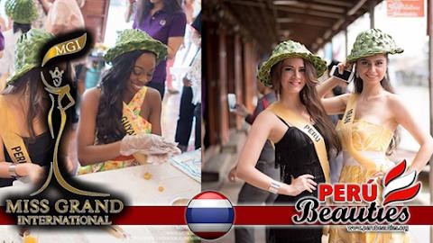 Candidatas visitan comunidad de Amphawa Chaipattananurak - Miss Grand International 2015
