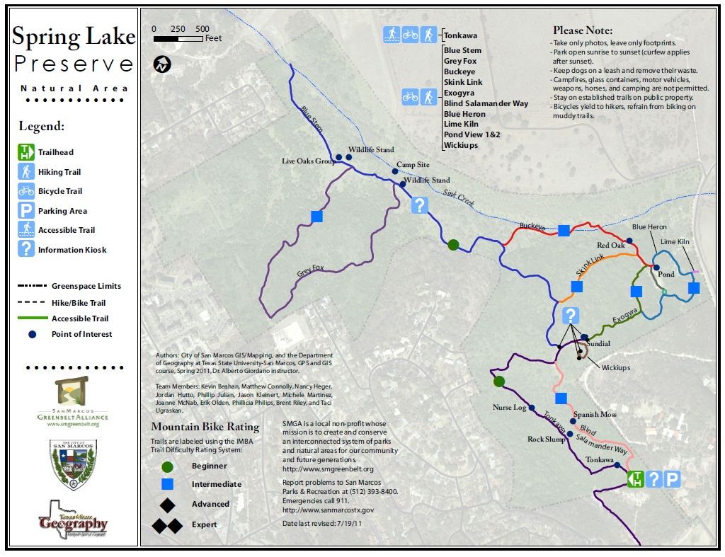 spring lake preserve trail map