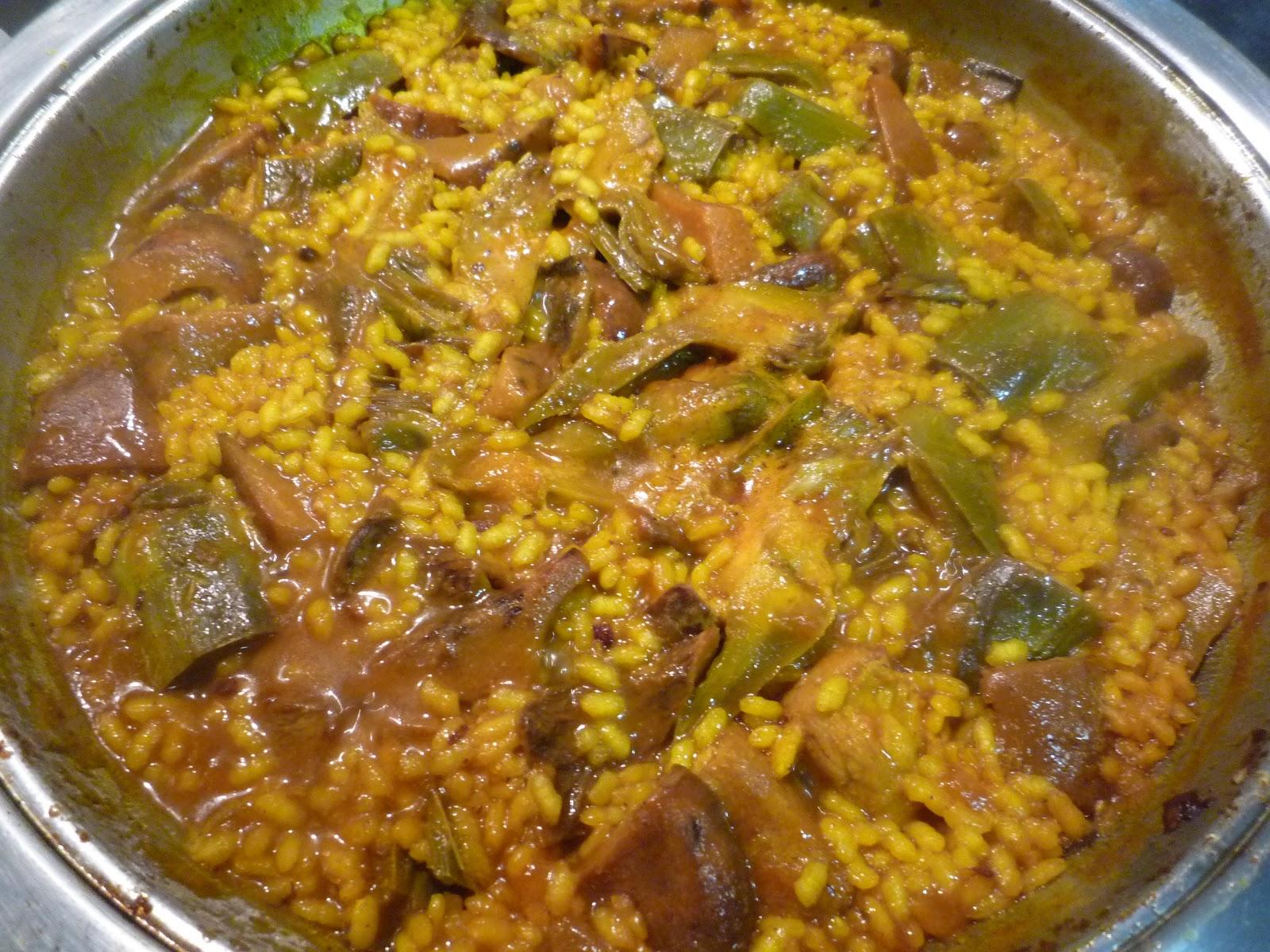 Cocinando con lola garc a arroz meloso de magro - Arroz caldoso con costillas y alcachofas ...