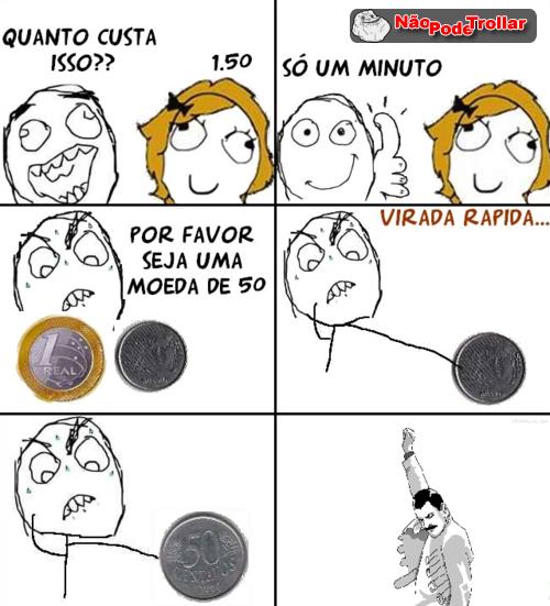 puxando a moeda certa