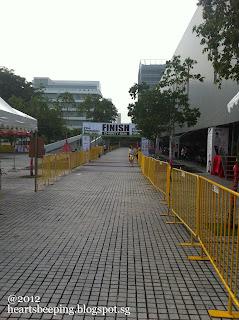 Republic Poly Run 2012, The finish line