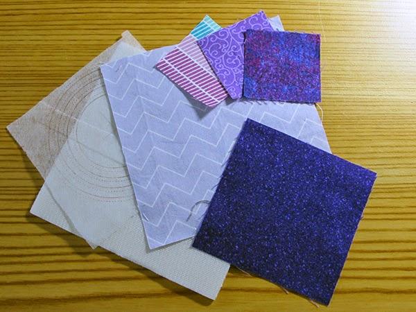 Instagram quilted mug mat, scrap fabrics