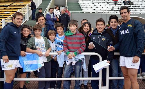 Sánchez y De la Vega con los chicos en Córdoba