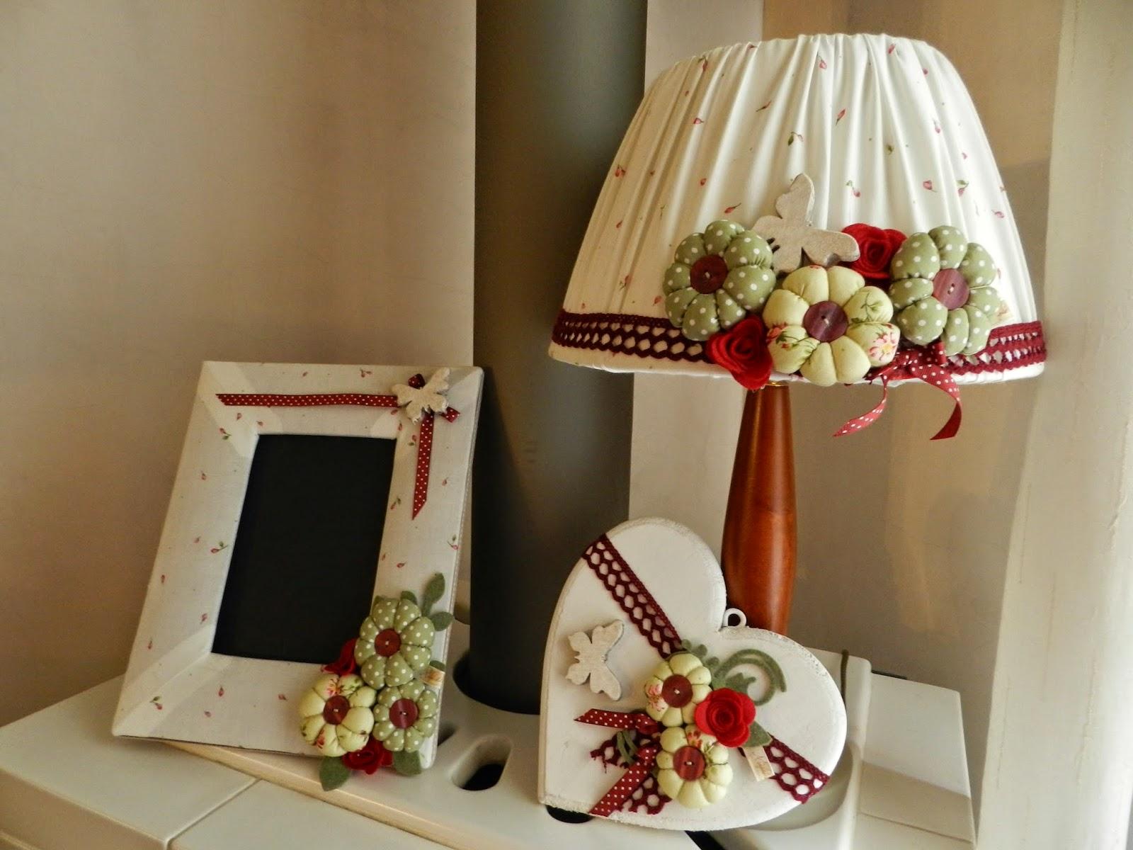 progetto per arredare la vostra casa .....lampada rivestita in tessuto ...