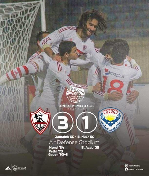 أهداف المباراة | الزمالك 3-1 النصر|الدوري المصري 2015/2014| الأسبوع 19