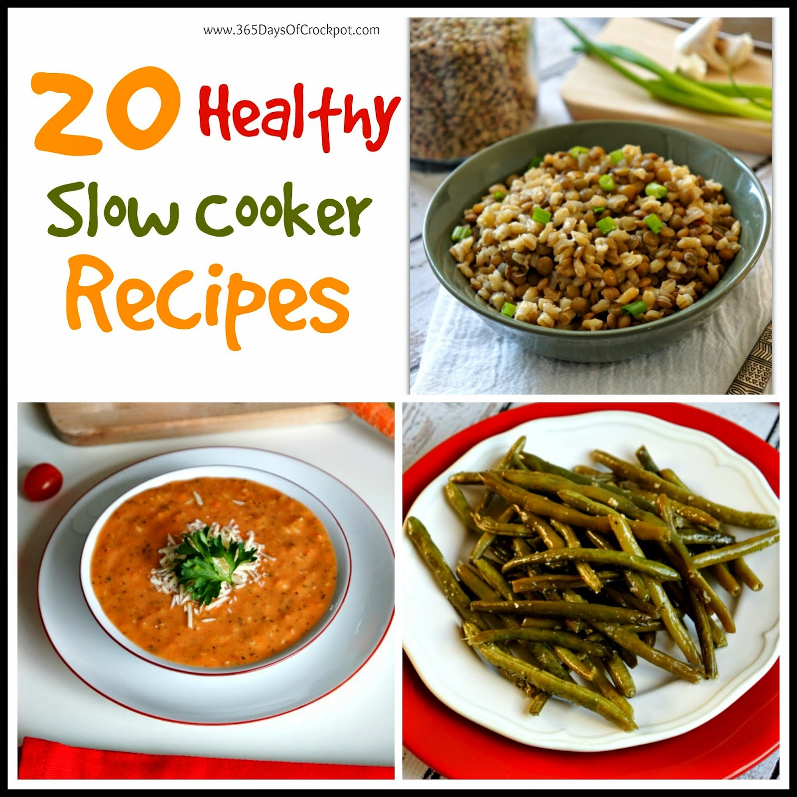 20 healthy recipes to make in your crockpot! #healthy #crockpot