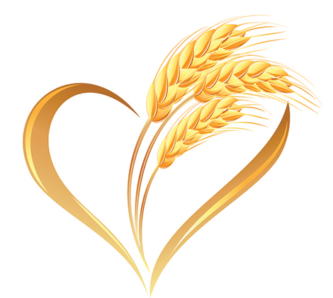 Wheat heart icon
