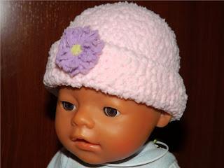 Gorro tejido ganchillo o crochet para bebé