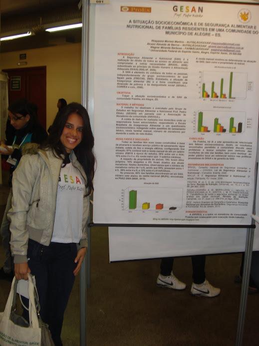 Rhayanne apresenta trabalho no IV COMAN - maio/2011