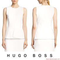 Queen Letizia Style - HUGO BOSS Dress and MANGO Clutch Bag
