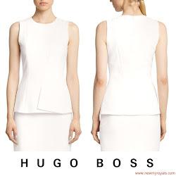 Queen Letizia Style - HUGO BOSS Dress and MANGO Clutch Bag