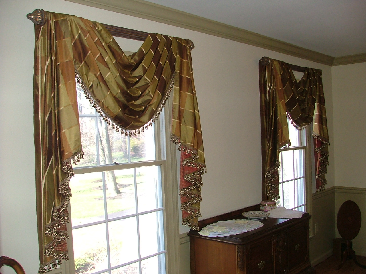 Custom window treatments by d n designs for Unique window designs