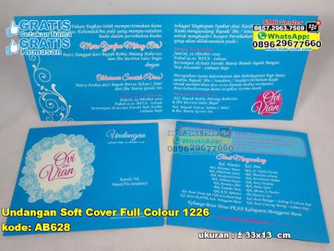 Undangan Soft Cover Full Colour 1226 grosir