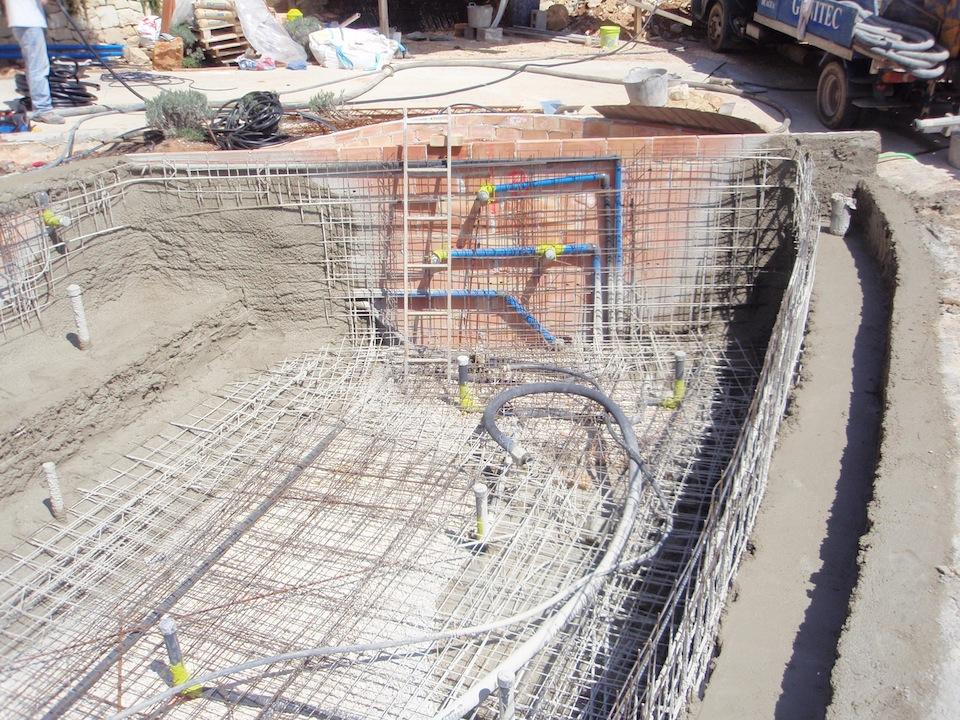 De una piscina partes de una piscina esquema y qu es el for Costo construccion pileta