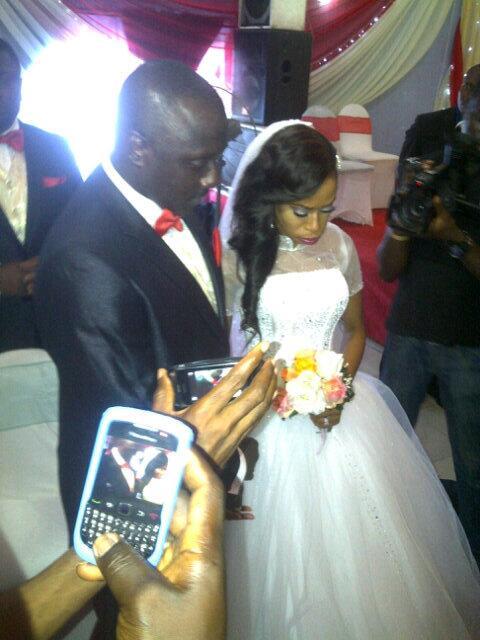 femi brainard's white wedding photos