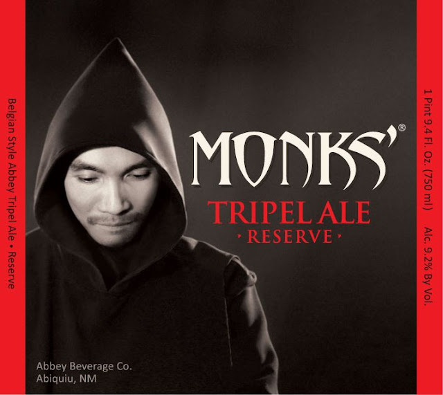 Monks' Ale big bottle label design