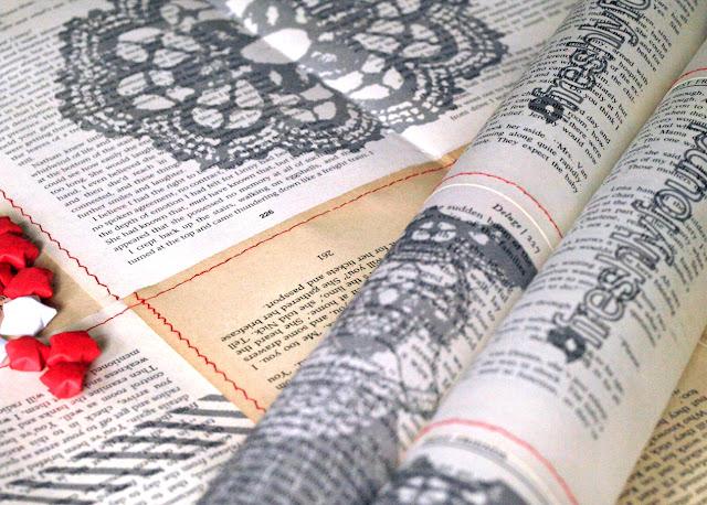 Book Print Gift Wrap