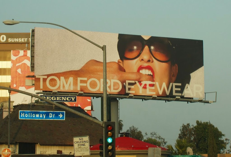 Tom Ford Eyewear 2008 billboard Sunset Strip