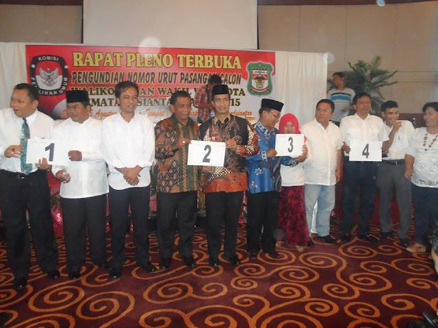 Inilah 4 Paslon Walikota dan Wakil Walikota Siantar Yang ditetapkan Oleh KPUD Siantar