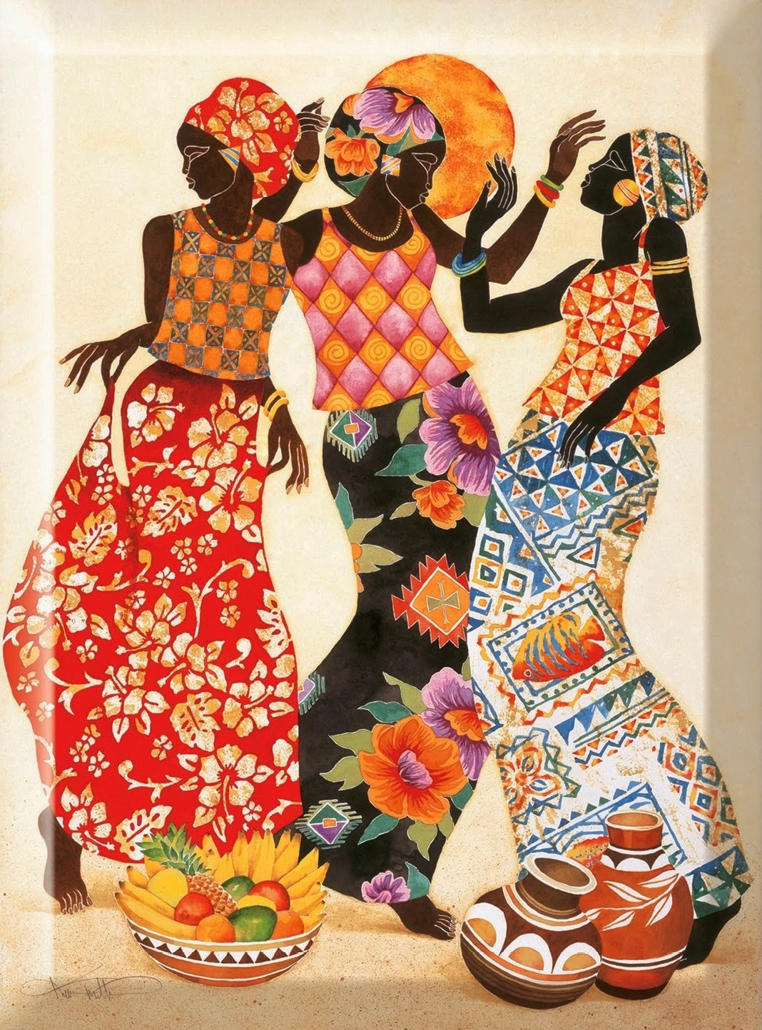cuadros artesanales-africanos