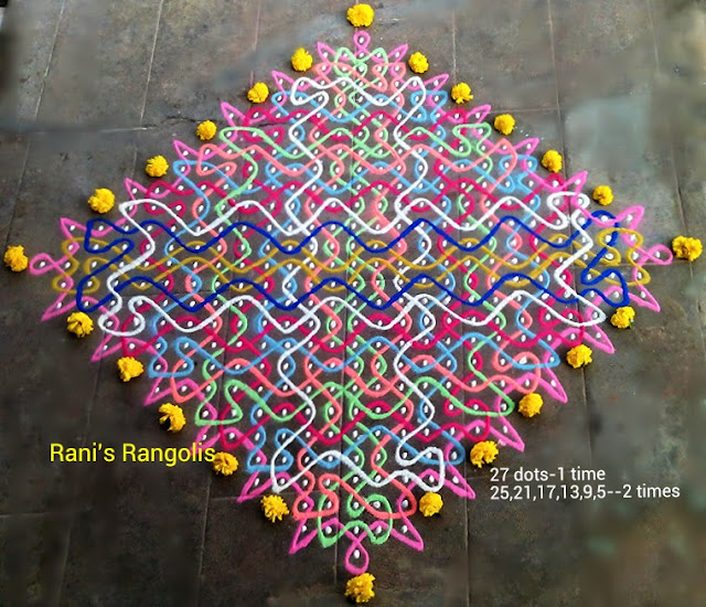 Rangoli with 27 Dots