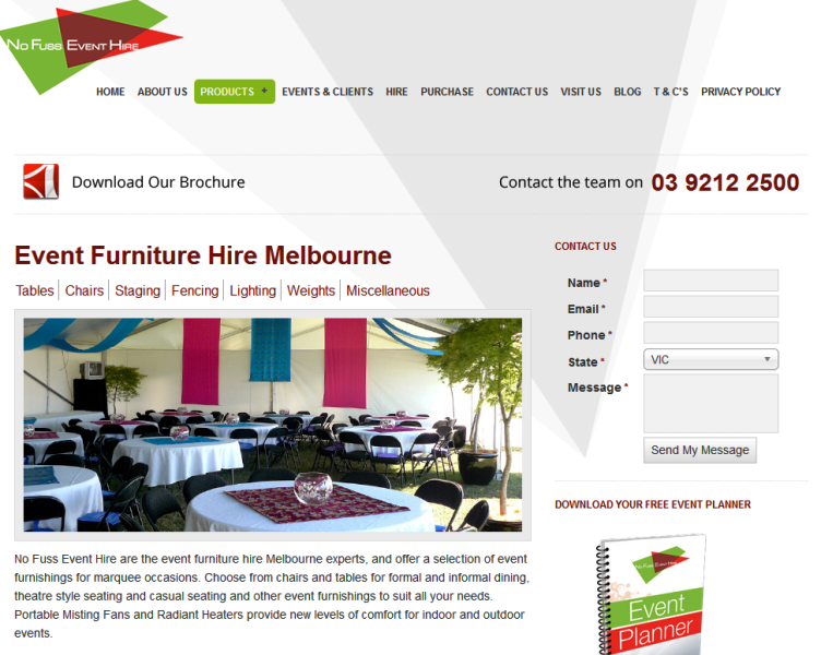 trusted event hire company in Victoria