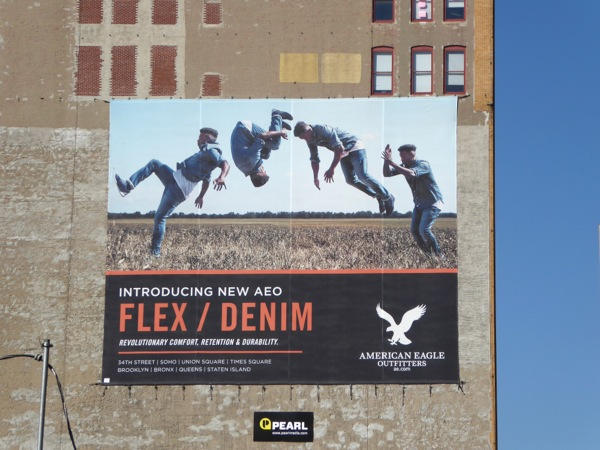 American Eagle Outfitters Flex Denim billboard NYC