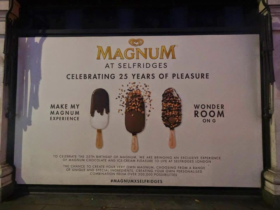 Selfridges Shop Window 2014 jul-aug Magnum 25th