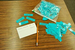 Vocabulary Scattergories Activity on Classroom Freebies