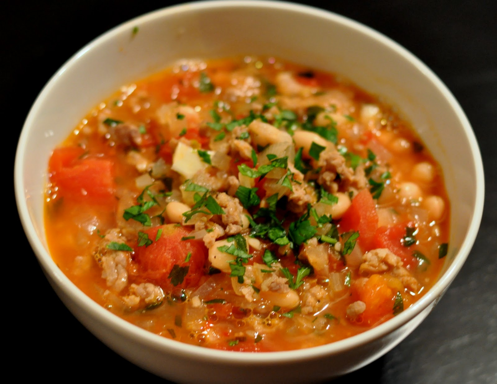 Dandy Dishes: Fagioli con Salsicce (Beans with Sausage) Soup