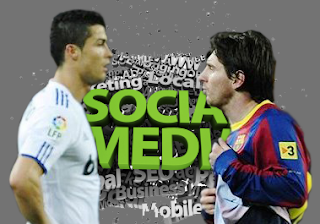 Ronaldo Kalahkan Messi 2-1 di Media Sosial