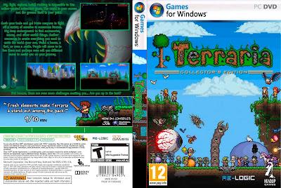 Jogo Terraria Versão 1.2.4.1 PC DVD Capa